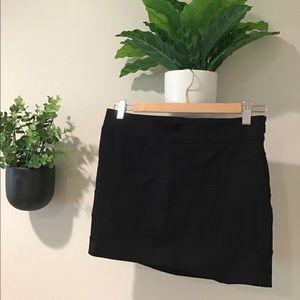 Express Black Mini Skirt